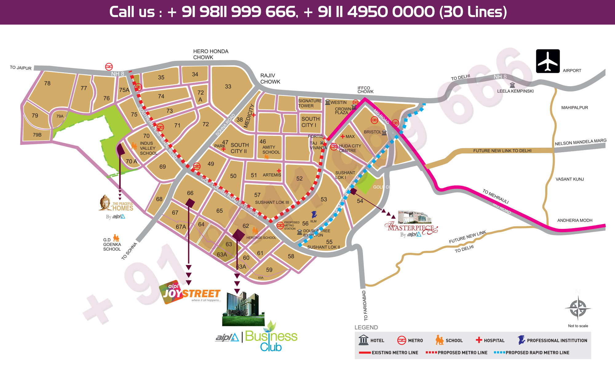Location Map - AIPL Joy Street Gurgaon