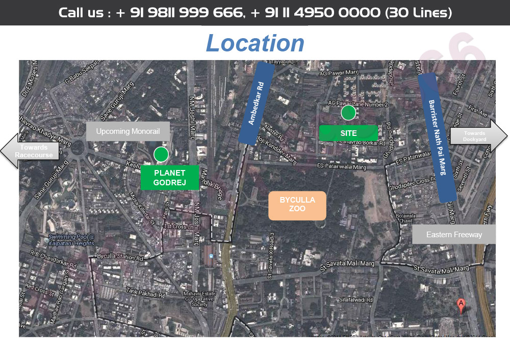 Location Map - Godrej Sky Byculla