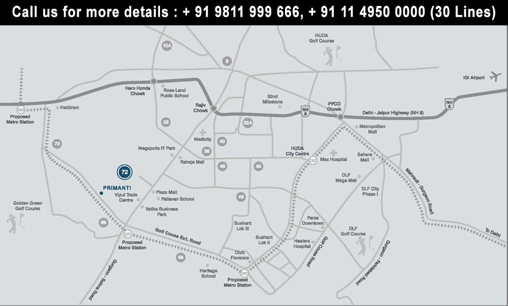 Tata Primanti Location Map