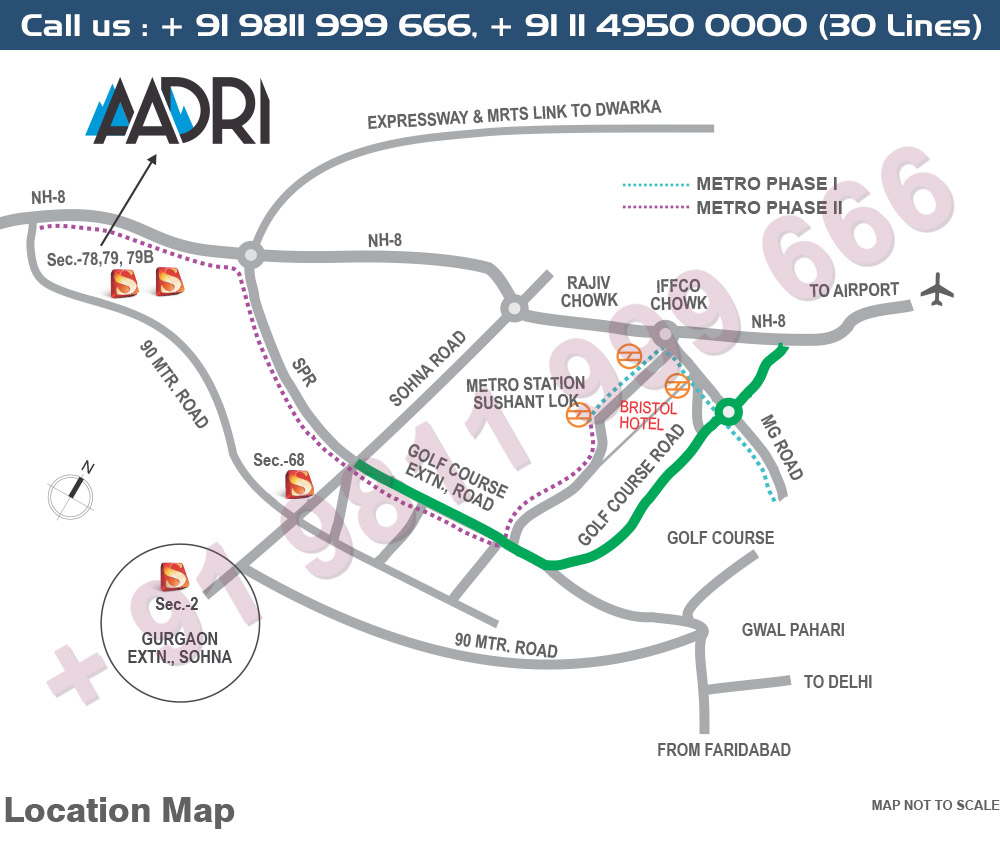 Supertech Neeladri Location Map