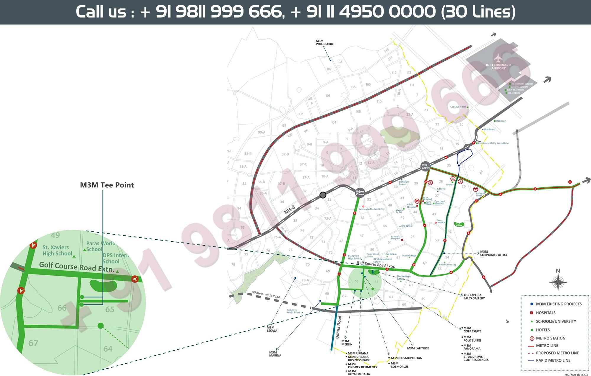 Location Map - M3M Tee Point Gurgaon