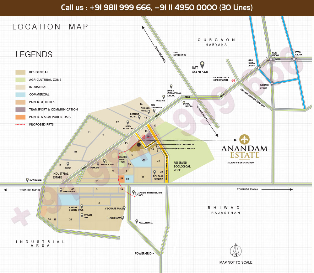 MGH Anandam Estate Location Map