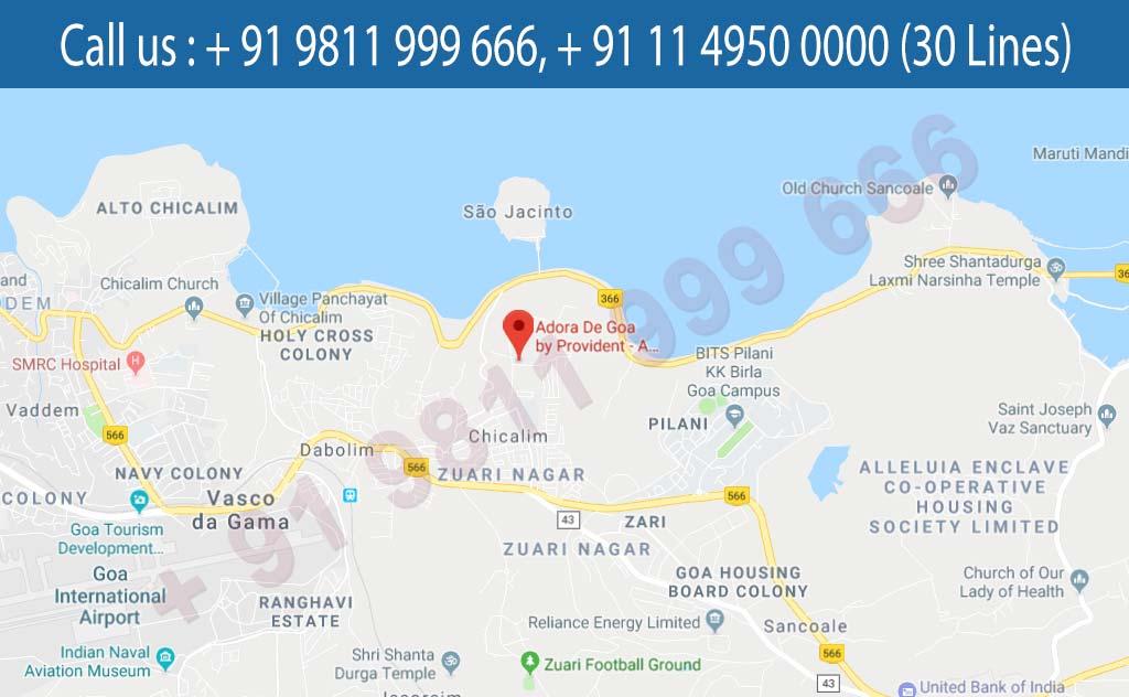 Location Map - Adora De Goa Dabolim