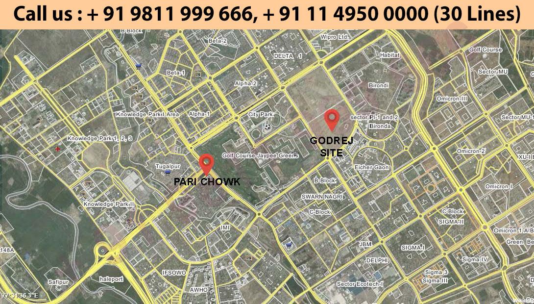 Location Map - Godrej Golf Links Greater Noida