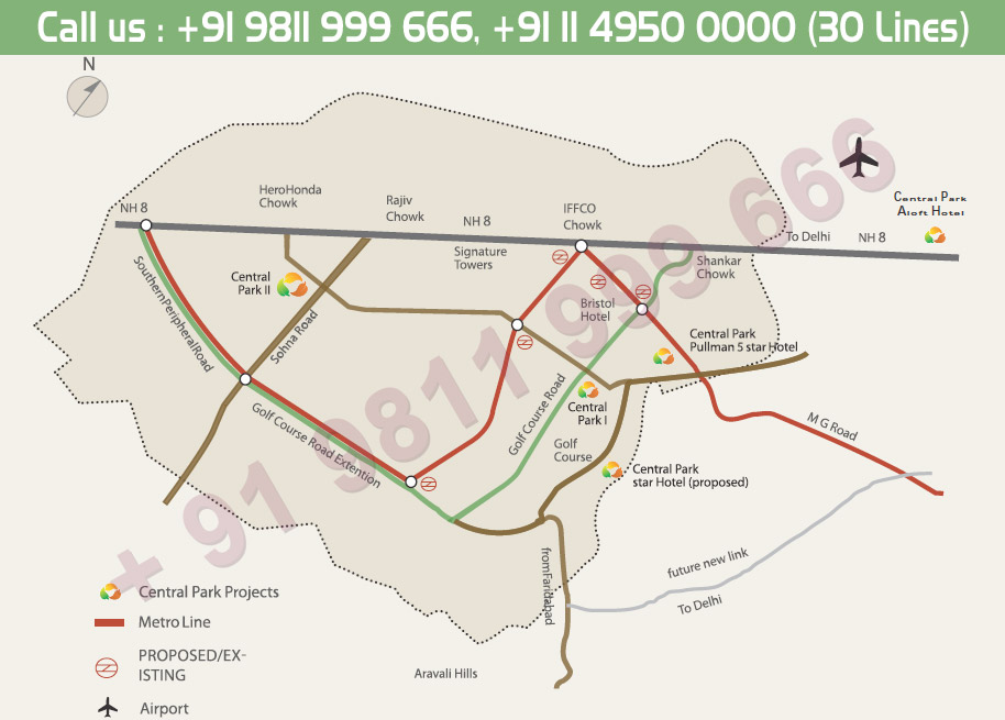 Location Map - Central Park 2 Gurgaon