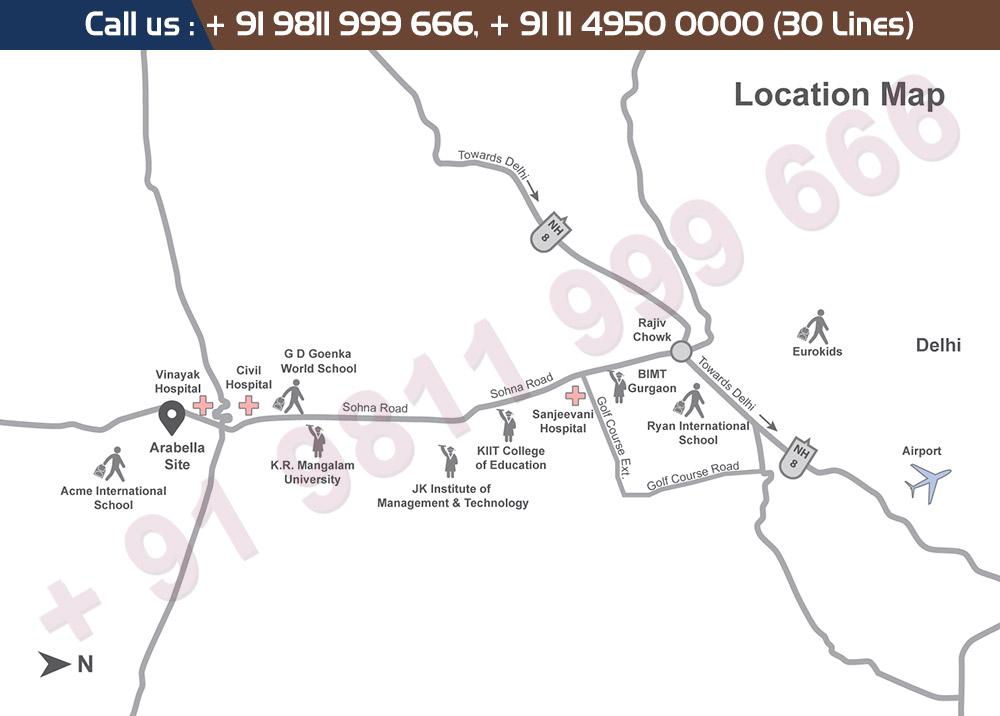 Tata Arabella Villas Location Map