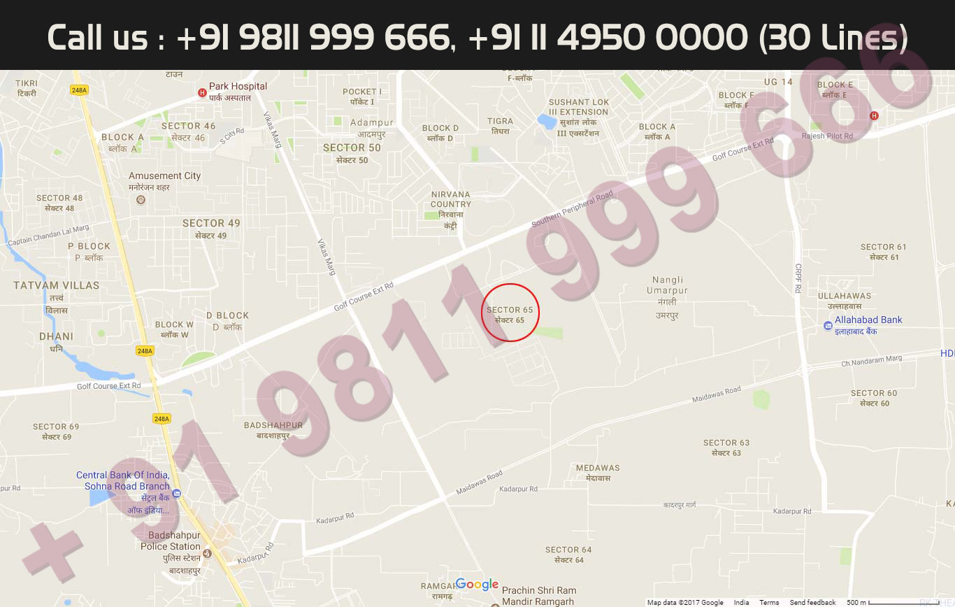 Location Map - Trump Tower Gurgaon Sector 65