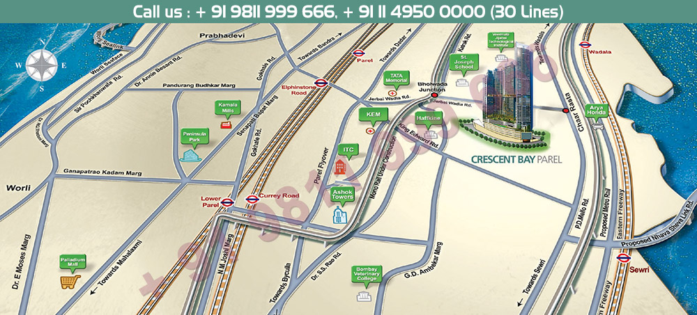 L&T Crescent Bay Location Map