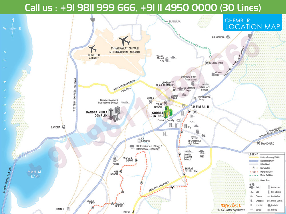 Godrej Central Phase 3 Location Map