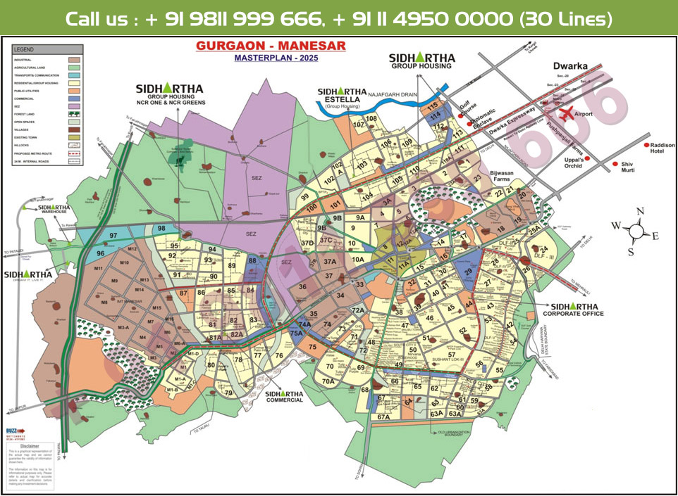 Sidhartha NCR Green Location Map