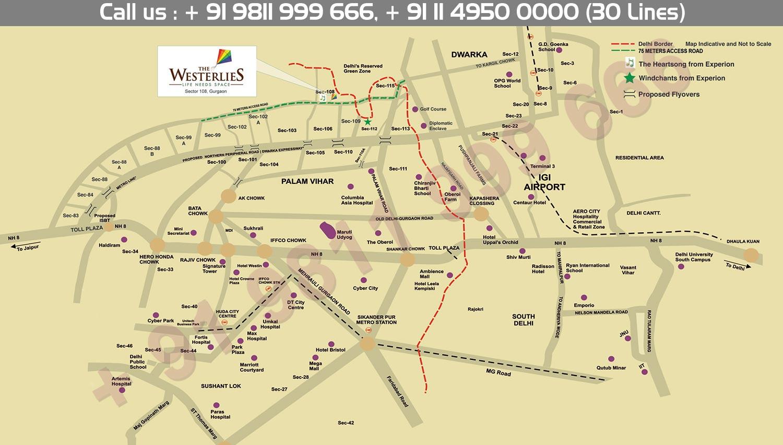 Experion Westerlies Villas Location Map