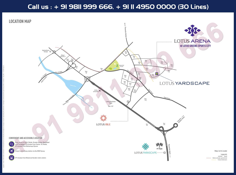 Lotus Yardscape Location Map