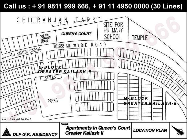 DLF Queens Court Location Map