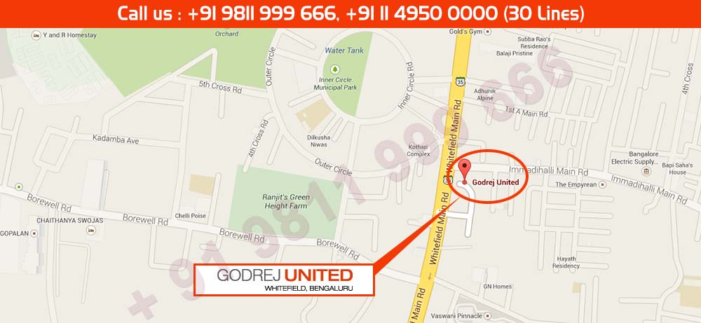 Godrej United Location Map