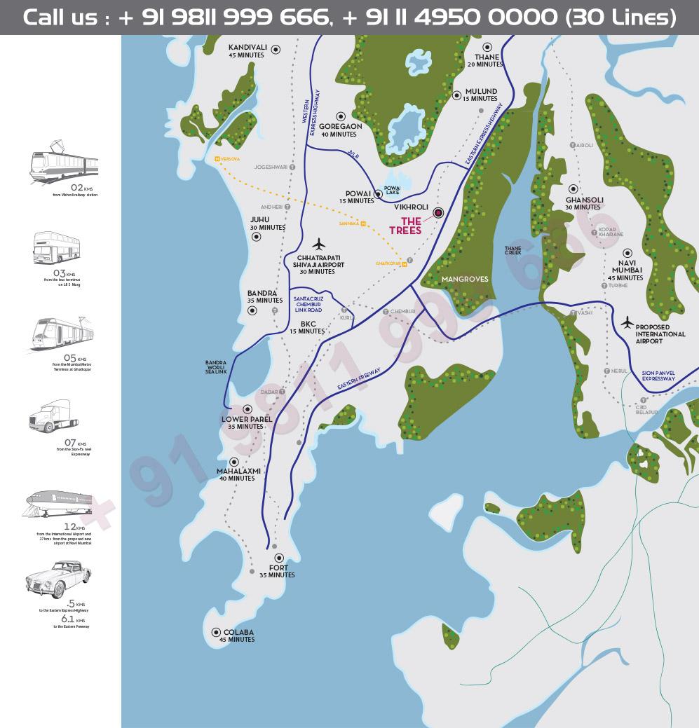 Location Map - Godrej The Trees Mumbai