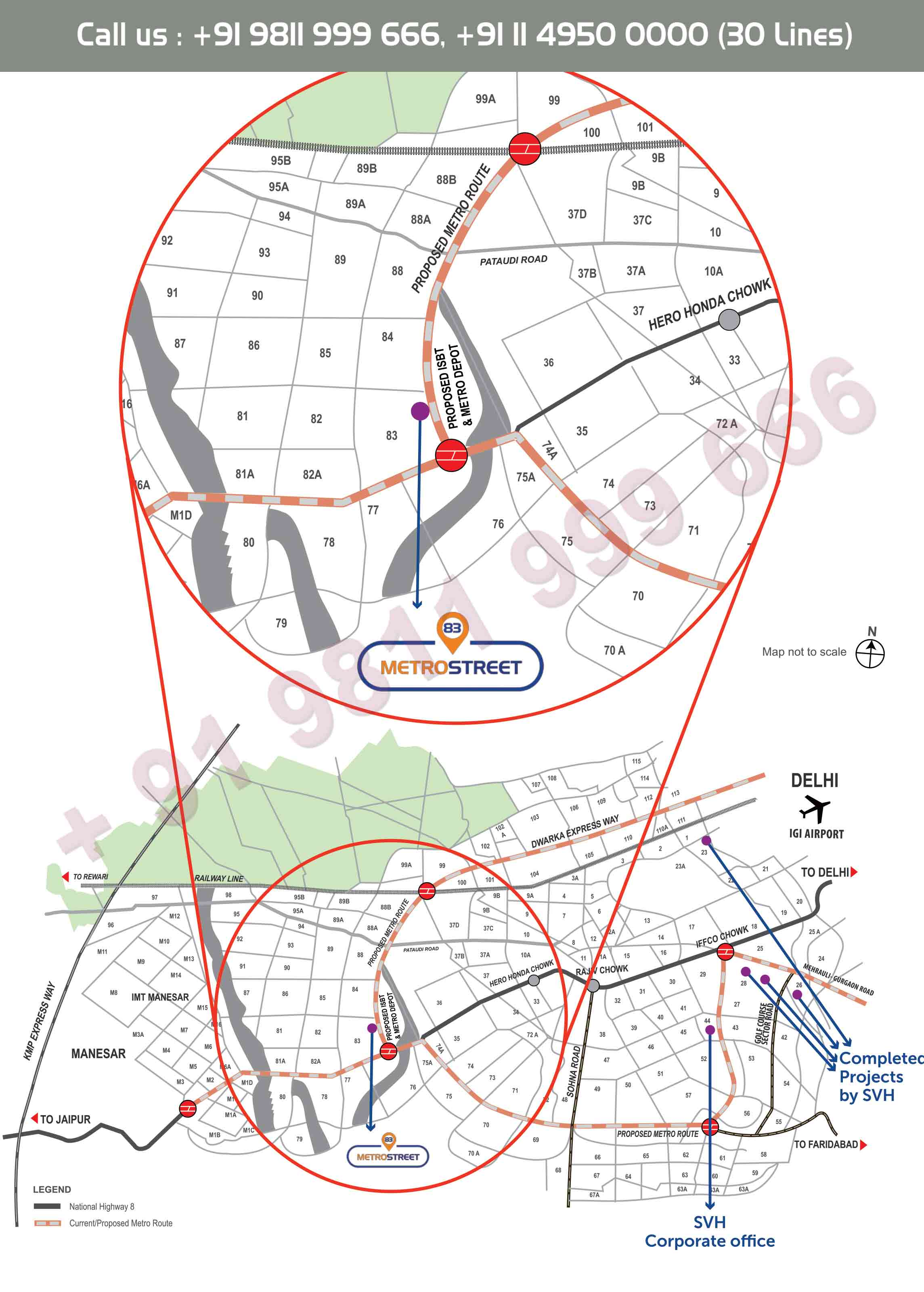 Location Map - 83 Metro Street Gurgaon Dwarka Expressway