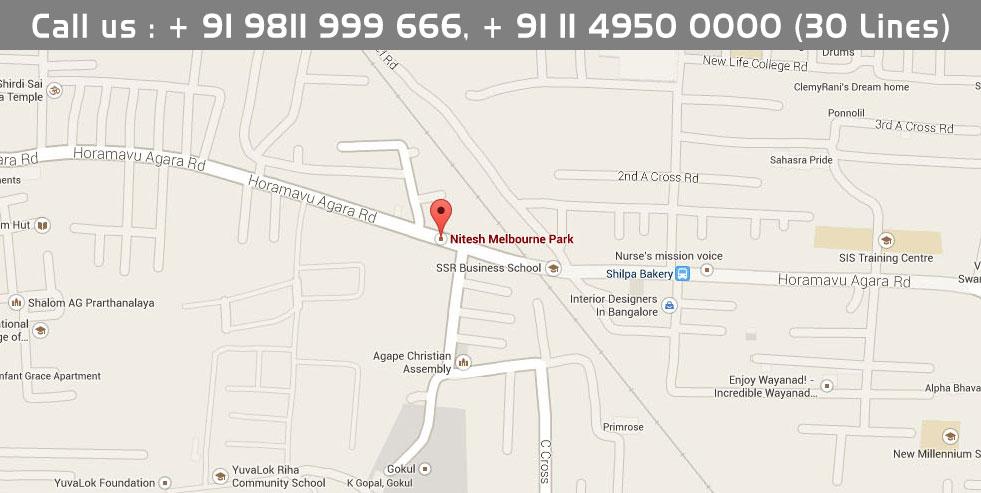 Nitesh Melbourne Park Location Map