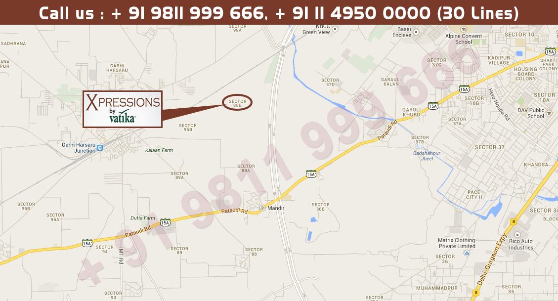 Vatika Xpressions Location Map