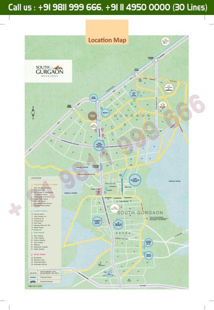 Location Map - Central Park Flower Valley Fleur Villas Sohna