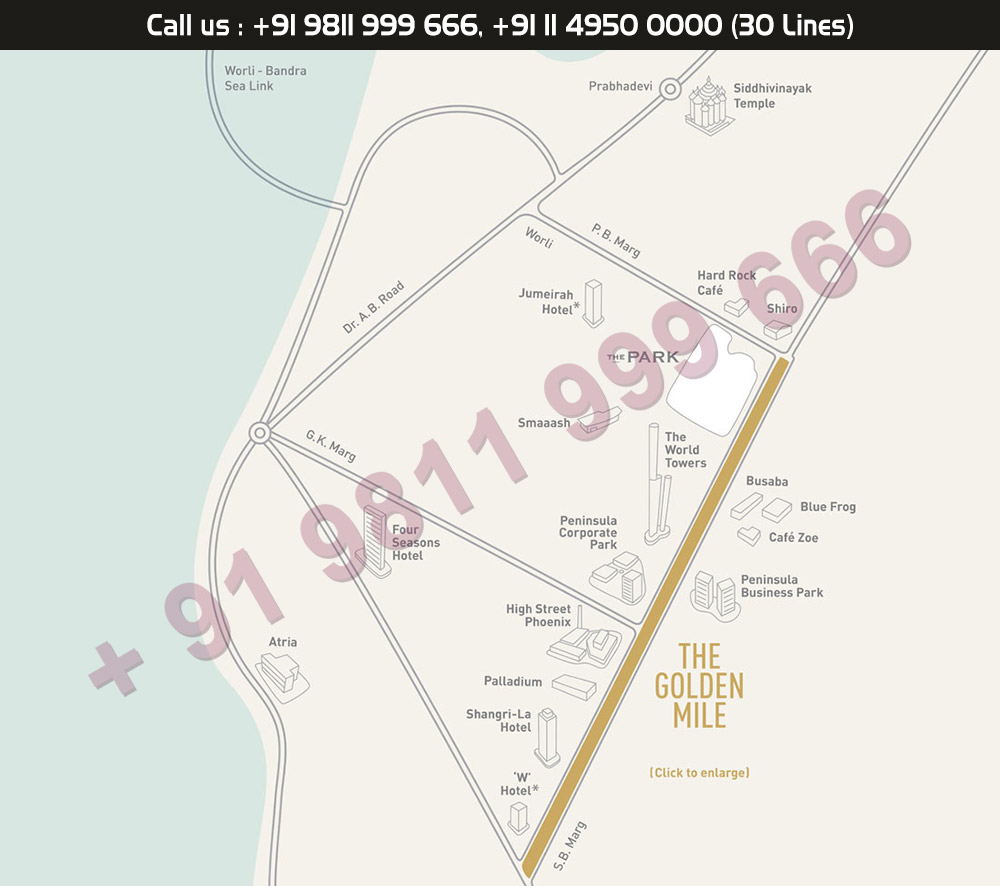 Lodha The Park Location Map