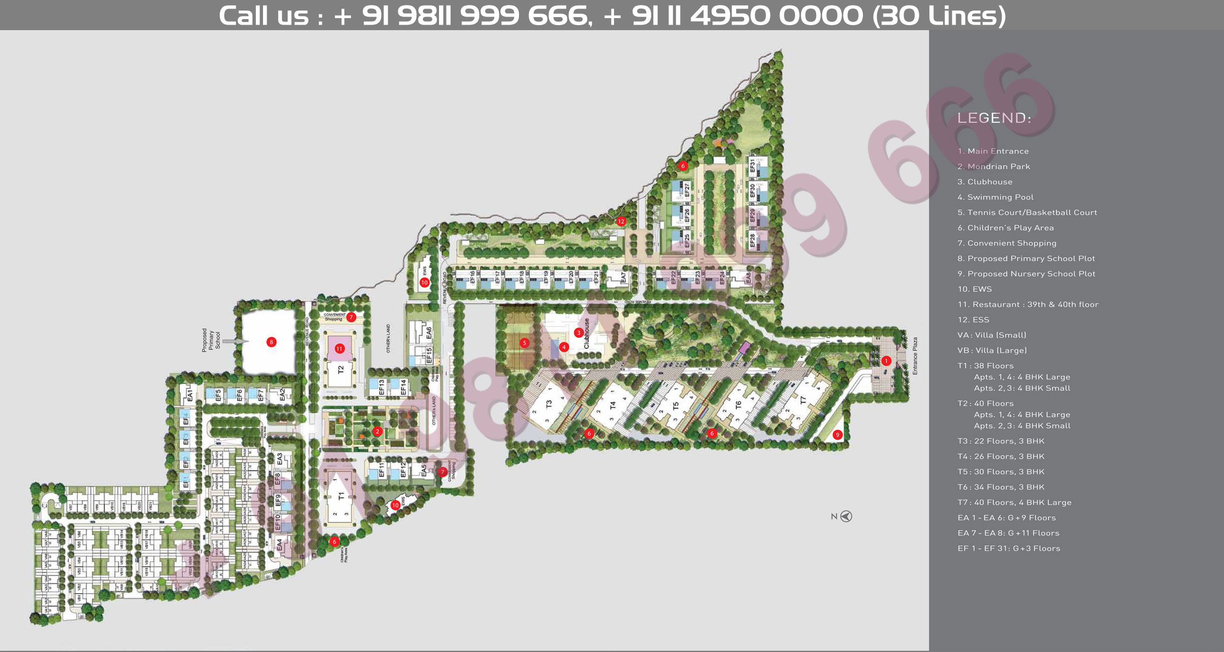 Tata Primanti Garden Estate Master Plan
