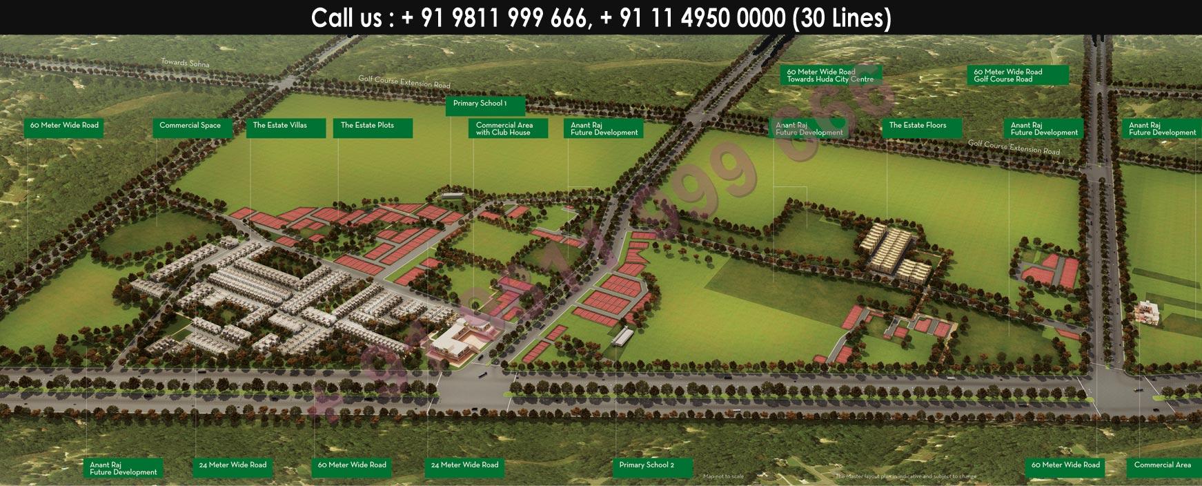 Anantraj Estate Villas Master Plan