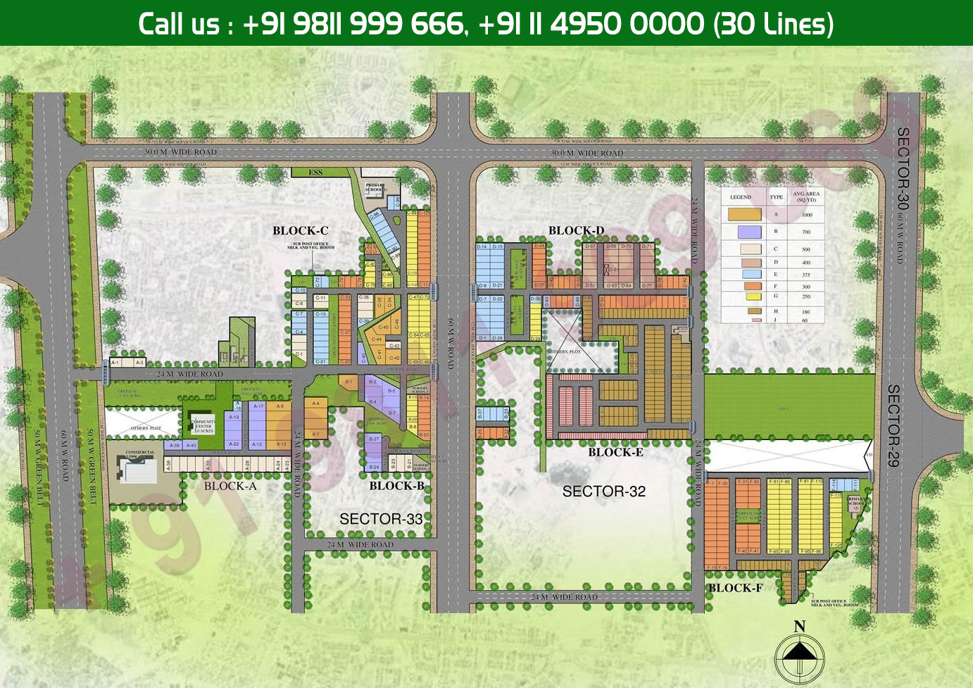 Site Plan - Central Park 3 Floors