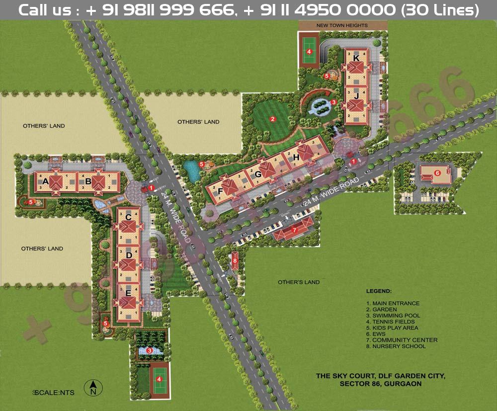 DLF Sky Court Site Plan