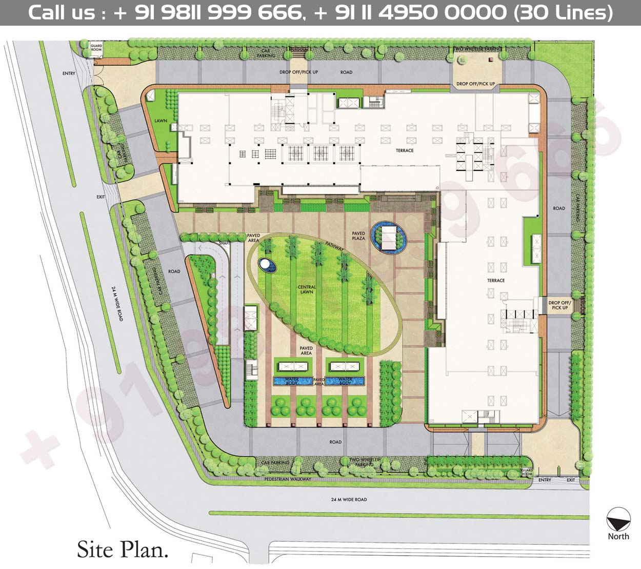 DLF Prime Tower Phase I Site Map