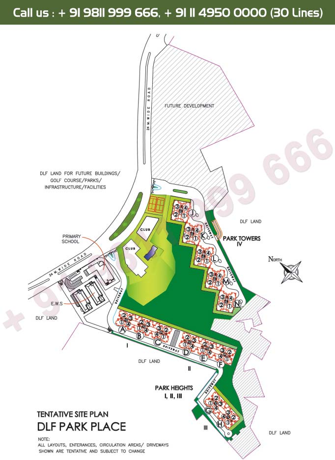 DLF Park Place - Site Plan
