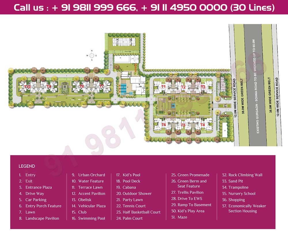 Ashiana Mulberry Site Plan