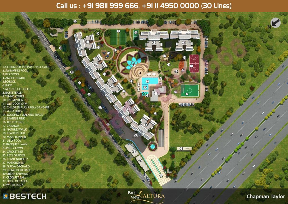 Site Plan - Bestech Park View Altura Gurgaon