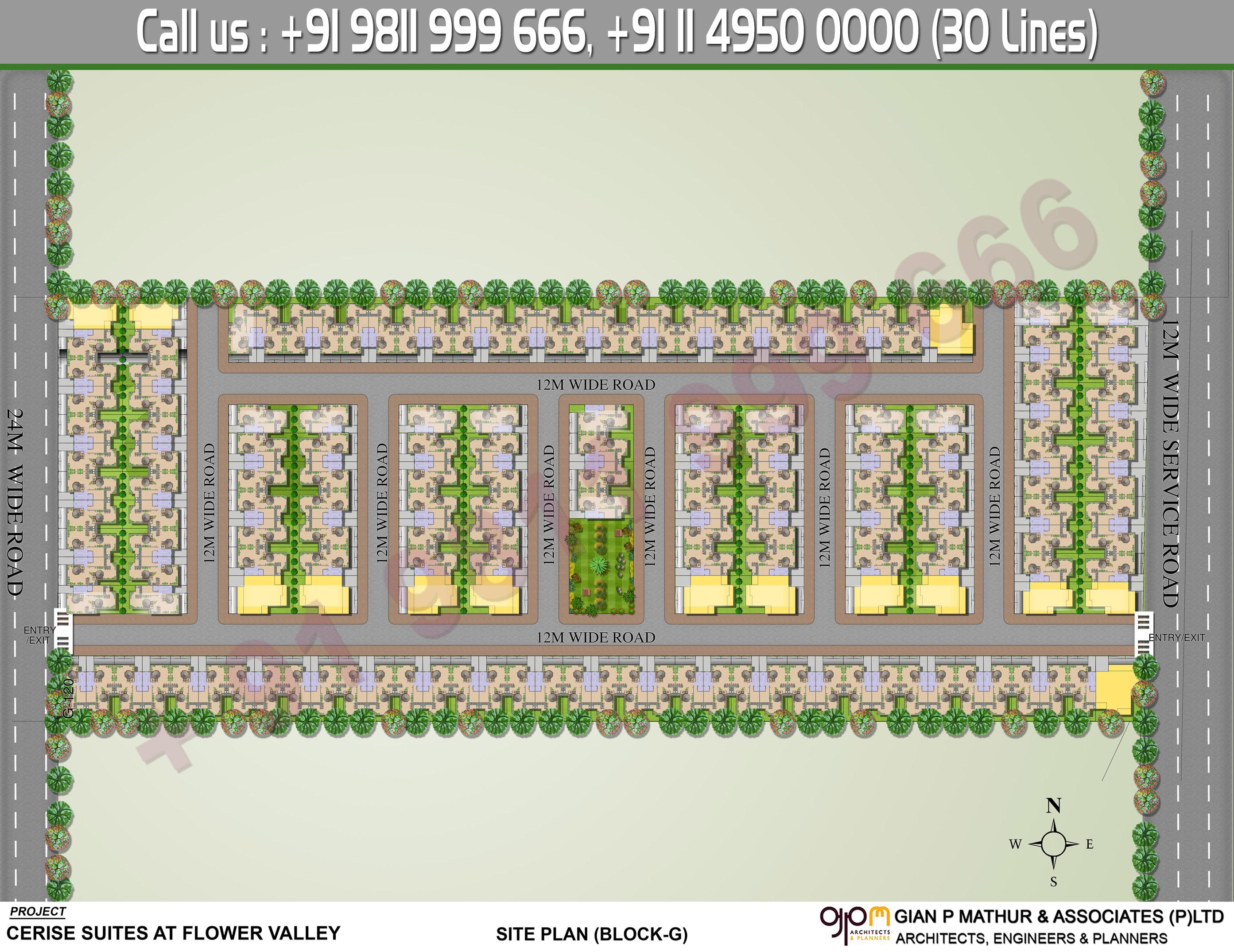 Site Plan - Central Park 3 Cerise Suites Floors Sohna