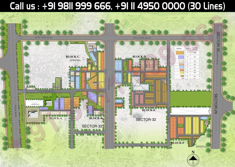 Site Plan - Central Park 3 Lavender Suites Floors Sohna
