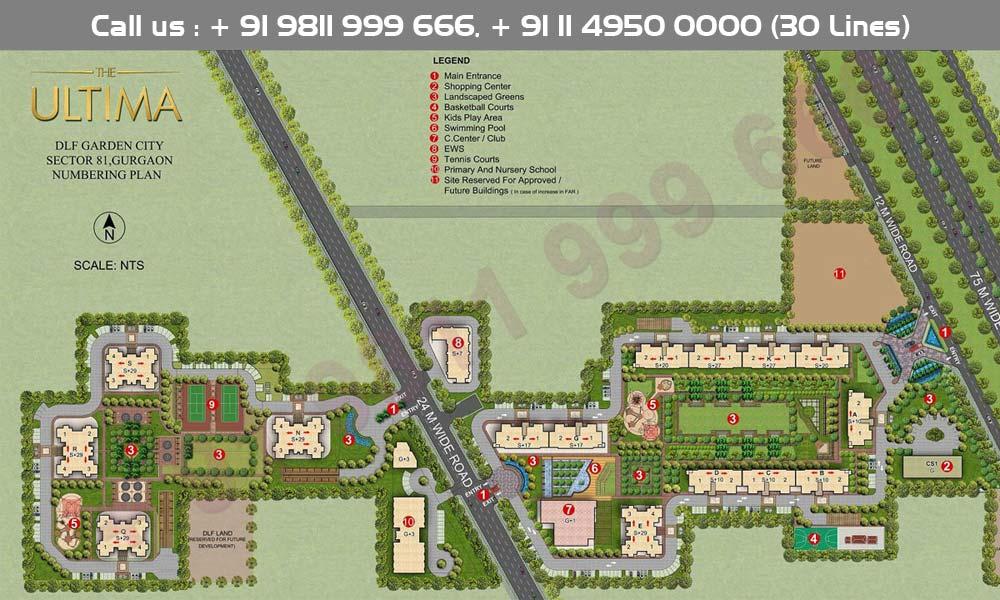 DLF Ultima Site Plan
