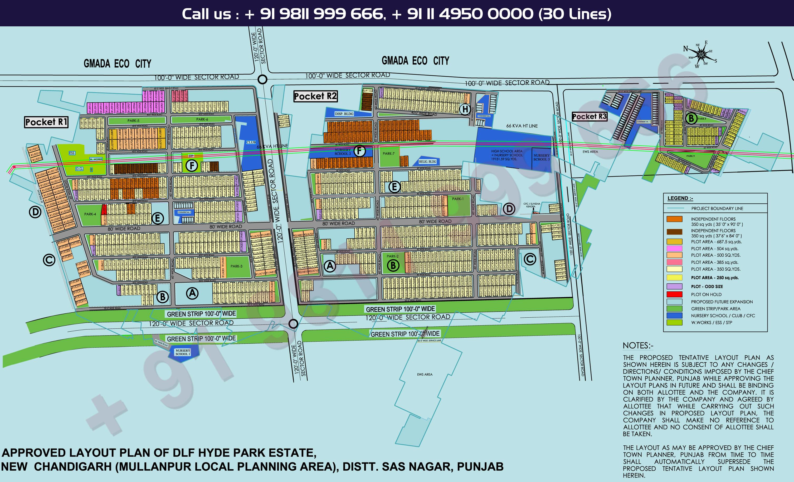 DLF Hyde Park Site Plan