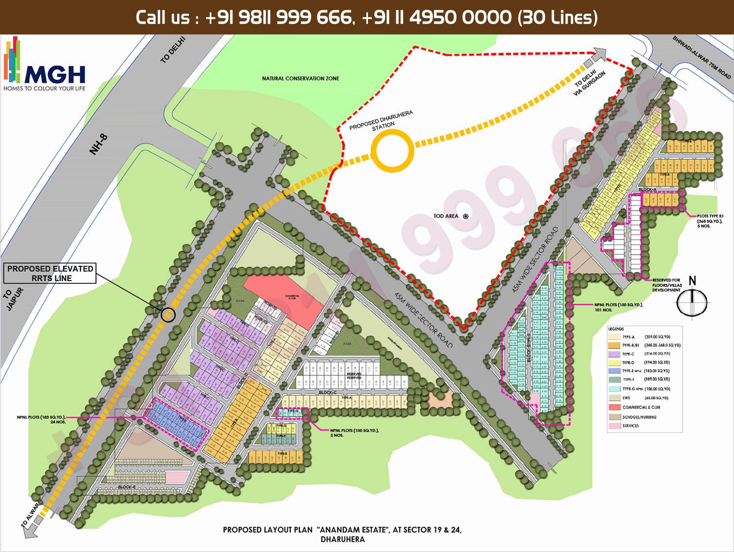 MGH Anandam Estate Site Plan